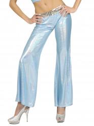 Holografische Hose blau für Damen