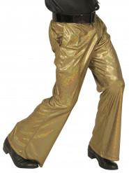 holografisch goldene Discohose für Männer