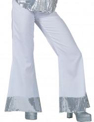 Weiße Disco Hose mit Pailletten für Damen