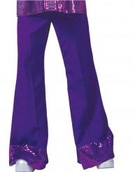 Hose violett mit Pailletten für Herren