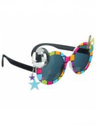 Disco-Brille für Erwachsene bunt