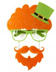 Brille mit Bart und Haaren für St.Patrick