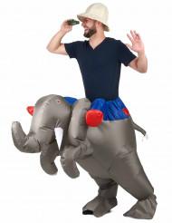 Kostüm aufblasbarer Elefant für Erwachsene