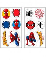 12 Mini Spiderman™ Zuckerscheiben 3,4 cm
