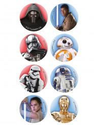 16 Mini Star Wars ™ Zuckerscheiben 3,4 cm