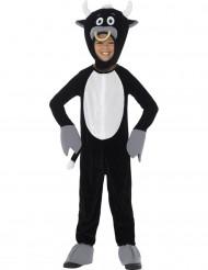 Stier-Kostüm für Kinder Tier-Verkleidung schwarz-weiss-grau