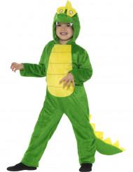 Lustiges Dinosaurier-Kostüm für Kinder Tiere grün-gelb