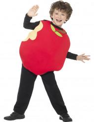 Humorvolles Apfel-Kostüm für Kinder Obst rot