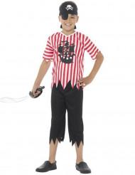 Piraten-Kostüm für Jungen gestreift