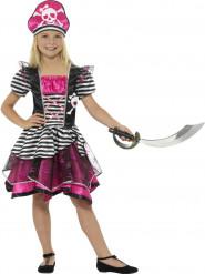 Süsses Piratinnen-Kostüm für Mädchen rosa