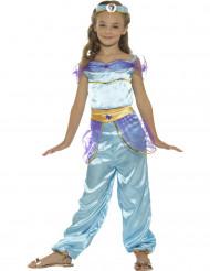 Arabische Prinzessin Kostüm blau für Mädchen