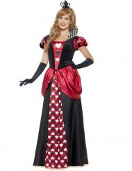 Herzkönigin Damenkostüm schwarz-weiss-rot