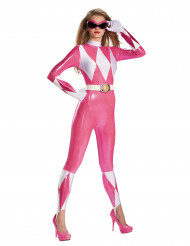 Sexy Power Rangers™ Damenkostüm pink-weiß