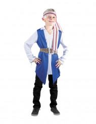 Blaues Piratenkostüm für Jungen