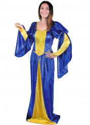 gelb blaues Kostüm Mittelalterliche Dame