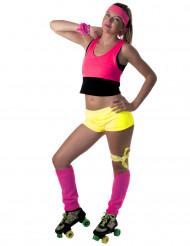 Mini Shorts neongelb für Damen