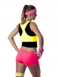 Neonpinke Mini Shorts für Damen