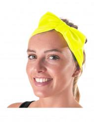 Stirnband mit gelbem Knoten Erwachsene