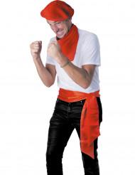 Gürtel Satin-Optik Kostümzubehör rot