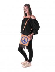 Hippie Handtasche für Damen blau-braun