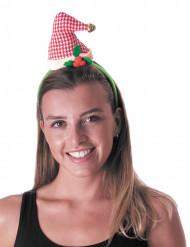 Haarreif mit Vintage Weihnachtsmütze