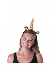 Stirnband goldenes Einhorn Erwachsene