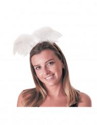 Haarreif mit Engelsflügeln für Erwachsene weiß