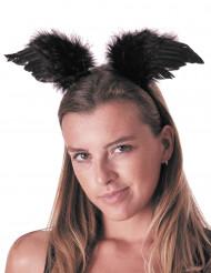 Stirnband mit schwarzen Engelsflügeln Erwachsene
