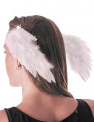 Weiße Engels-Flügel Clips für Erwachsene