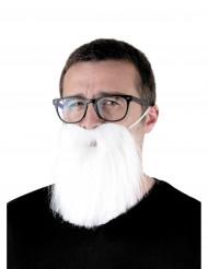Hipster Bart für Erwachsene weiß