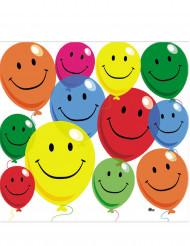 12 Papierservietten mit lachenden Luftballons 33 x 33 cm