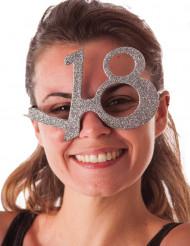 18 Jahre Brille mit Pailletten