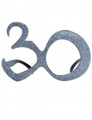 30 Jahre Glitzer-Brille für Erwachsene