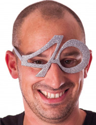 40. Geburtstag Spaßbrille silber