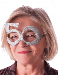 Brille mit Pailletten 50 Jahre
