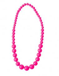 Perlenkette für Erwachsene neonpink