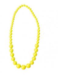 Perlenkette für Erwachsene neongelb