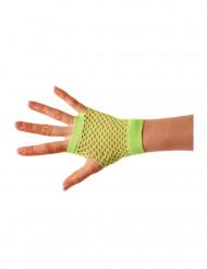 Fingerlose Netzhandschuhe für Erwachsene neongrün