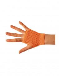 Kurze Netzhandschuhe orange Erwachsene