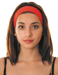 80er-Jahre Haarband Kostümzubehör rot