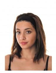 80er Kopfband schwarz für Erwachsene