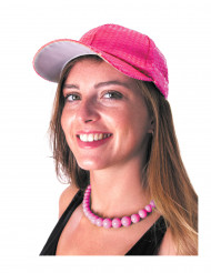 Kappe mit rosa Pailletten für Erwachsene