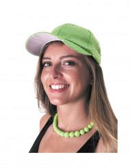 Sport-Kappe mit Pailletten für Erwachsene grün