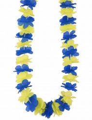 Hawaii-Kette für Erwachsene gelb-blau