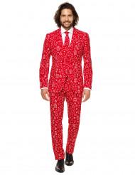 Mr. Iconicool Herren-Anzug Opposuits™ rot-weiß