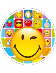 Tortenaufleger Smiley™ 21 cm