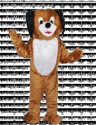 Hunde Maskottchen mit großem Kopf für Erwachsene