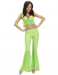 Disco-Kostüm für Damen neongrün
