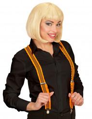 Hosenträger mit Rüschen für Erwachsene orange