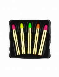 5 Schminkstifte neon